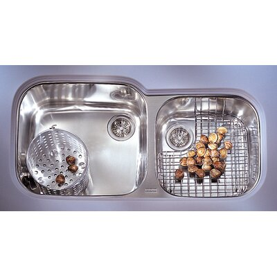 Professional 38.75 x 17.38 - 19.25 Double Bowl Kitchen Sink