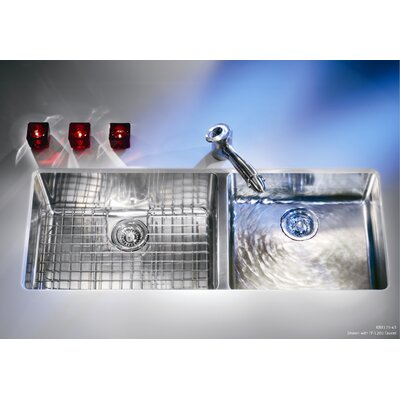 Kubus 42.94 x 17.94 Double Bowl Kitchen Sink