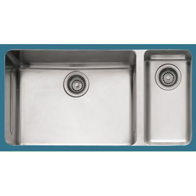 Kubus 33 x 17.94 Double Bowl Kitchen Sink