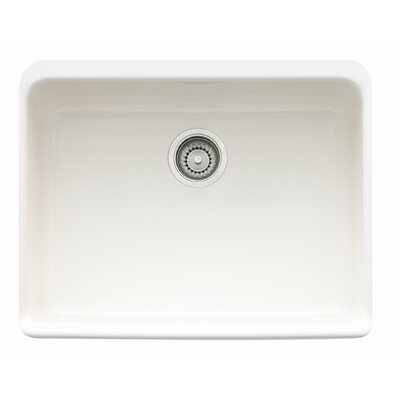 Manor House 23.63 x 19.75 Fireclay Apron Front Kitchen Sink Finish: White