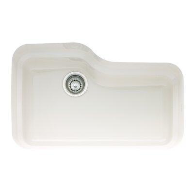 Orca 30 x 19.5 Fireclay Undermount Kitchen Sink Finish: White