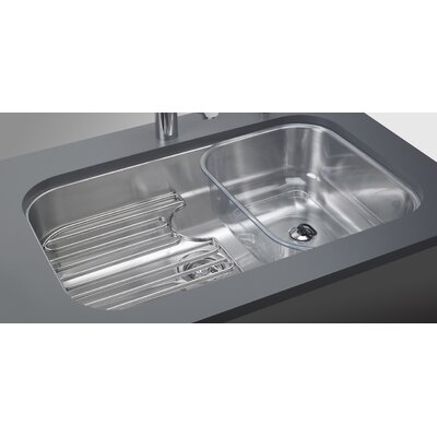 Oceania 29.94 x 18.94 Undermount Kitchen Sink with Ledge