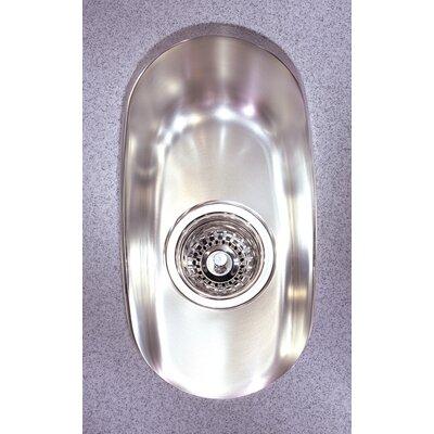 Prestige 8.63 x 15.75 Undermount Single Bowl Kitchen Sink