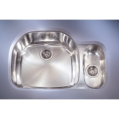 Prestige 32.25 x 17 - 21.25 Left Hand Double Bowl Kitchen Sink