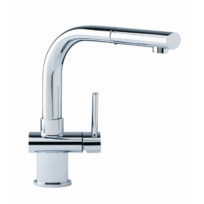 Single Handle Single Hole Kitchen Faucet with Stream Finish: Polished Chrome