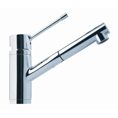 9 One Handle Single Hole Kitchen Faucet Finish: Polished Chrome