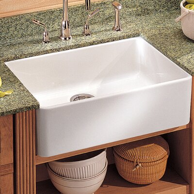 Manor House 19.69 x 15.75 Fireclay Apron Front Kitchen Sink Finish: White