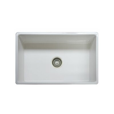 Farm House 30.13 x 20 Fireclay Apron Front Kitchen Sink Finish: White