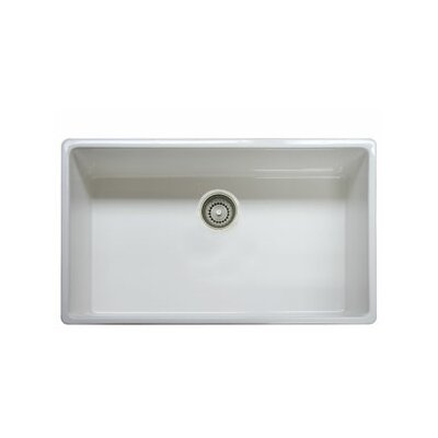Farm House 33 x 20 Fireclay Apron Front Kitchen Sink Finish: White