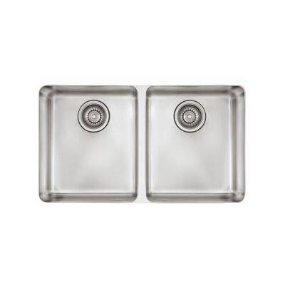 Kubus 30.31 x 17.31 Double Bowl Kitchen Sink