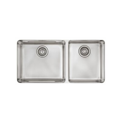Kubus 34.63 x 17.31 Double Bowl Kitchen Sink