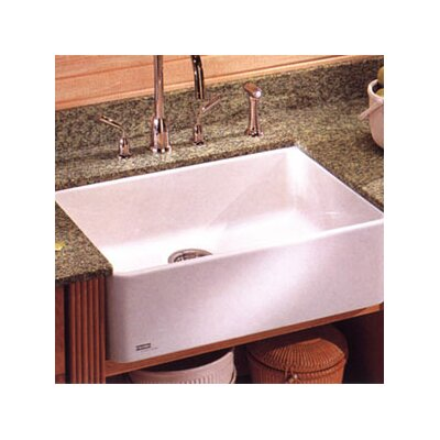 Manor House 27.625 X 19.75 Fireclay Apron Front Kitchen Sink Finish: Matte Black