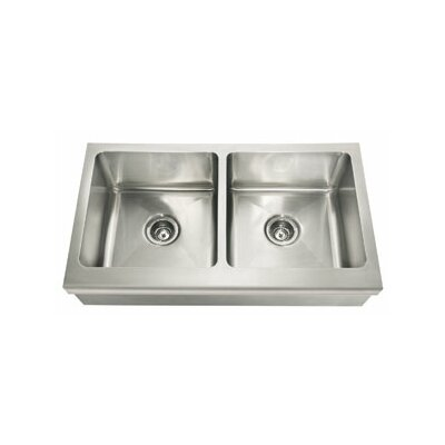 Manor House 36 x 20.88 Double Bowl Apron Front Kitchen Sink