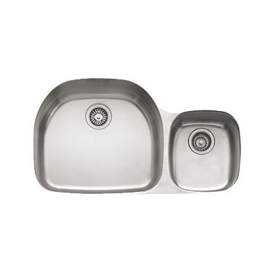 Prestige 36.13 x 16.13 - 21.25 Left Hand Double Bowl Kitchen Sink