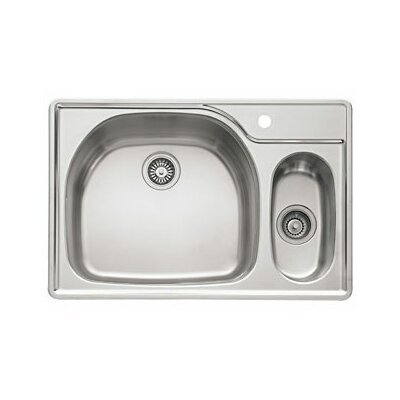 Prestige 33 Stainless Steel Left Hand Double Bowl Kitchen Sink