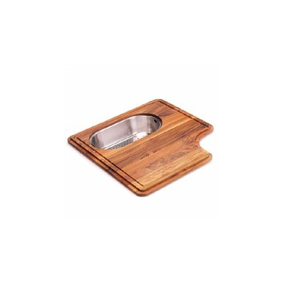Pro-Series Wood Cutting Board with Steel Colander in Teak PS19-45SP
