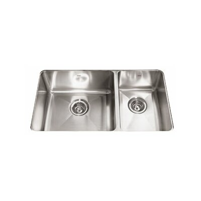 Professional 31.88 x 18.13 Double Bowl Kitchen Sink