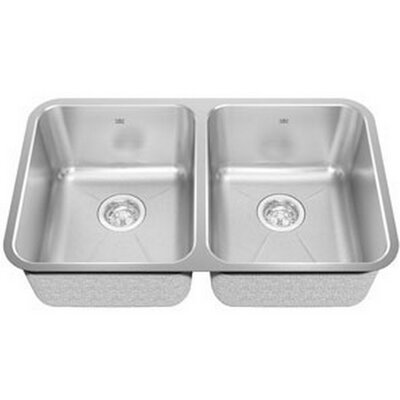 Kindred 30.88 x 17.75 Undermount Double Bowl Kitchen Sink