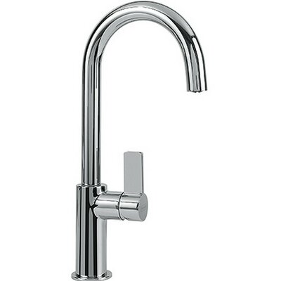 Ambient Single Handle Deck Mounted Kitchen Faucet with Full Spray Finish: Polished Chrome