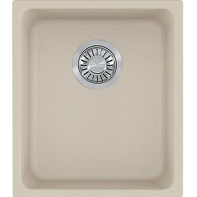 Kubus 15 x 17.3 Undermount Single Bowl Kitchen Sink
