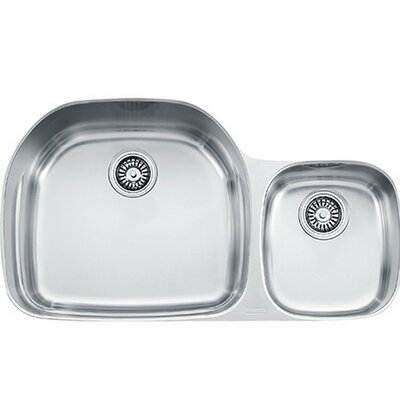 Prestige 20.5 x 35.625 Undermount Double Bowl Kitchen Sink