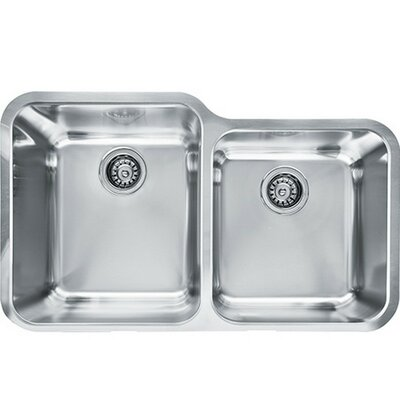 Largo 9.1 x 19.5 Double Bowl Kitchen Sink