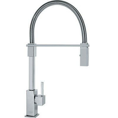 Planar Pull Down Single Handle Kitchen Faucet Finish: Polished Chrome