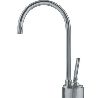 Twin Little Butler Single Handle Deck Mounted Kitchen Faucet Finish: Satin Nickel