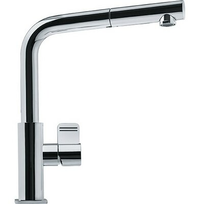 Mythos Single Handle Deck Mounted Kitchen Faucet with Pull Out Spray Finish: Polished Chrome