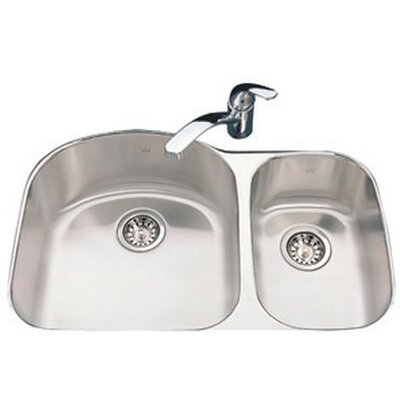 Kindred 31.5 x 20.625 Undermount Double Bowl Kitchen Sink