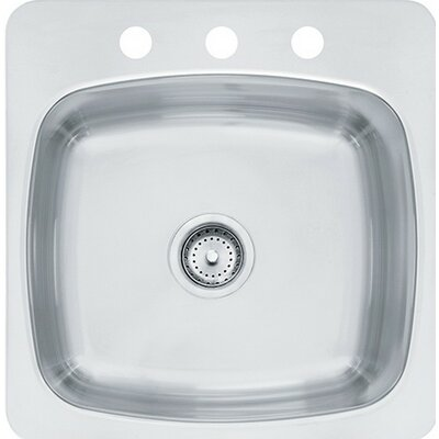 Axis 18 x 20.55 Single 20 Gauge 3 Hole Utility Sink
