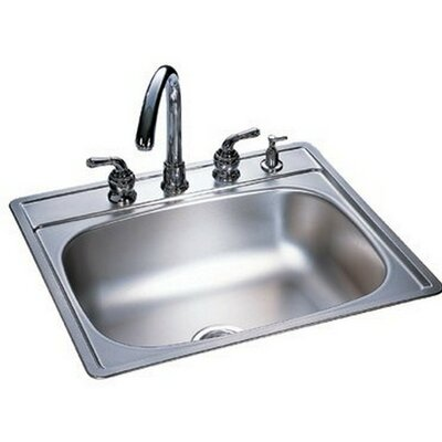 Kindred 22 x 25 4 Hole Single Bowl Kitchen Sink