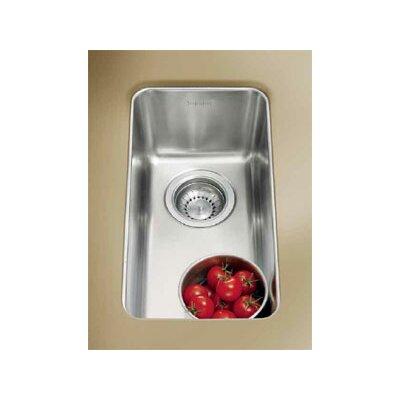 Kubus 9.44 x 17.31 Single Bowl Kitchen Sink