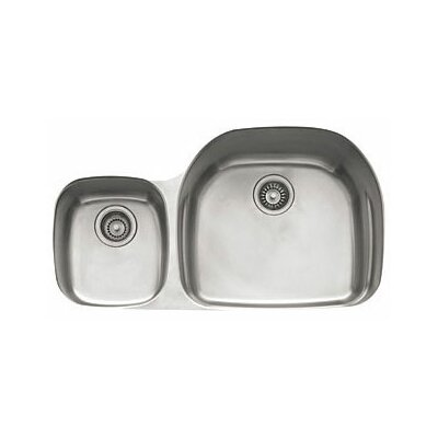 Prestige 36.13 x 16.13 - 21.25 Left Hand Large Double Bowl Kitchen Sink