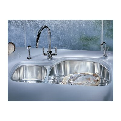 Prestige 35.63 x 14.94 - 20.44 Double Bowl Kitchen Sink