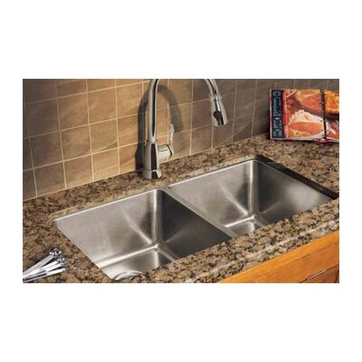 Professional 35.06 x 18.13 Double Bowl Kitchen Sink