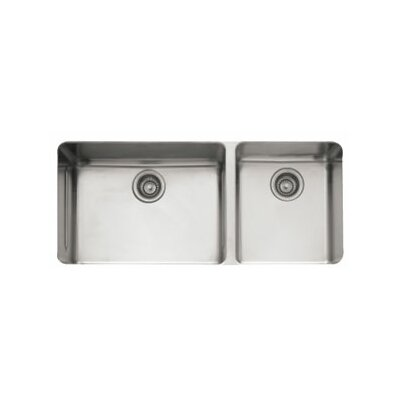 Kubus 38.56 x 17.94 Double Bowl Kitchen Sink