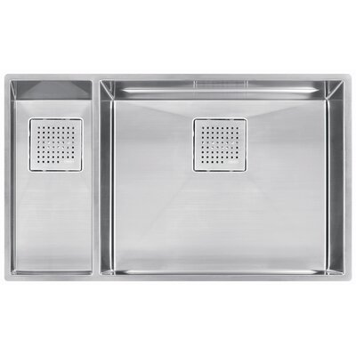 Peak 31.13 x 17.75 Double Bowl Kitchen Sink