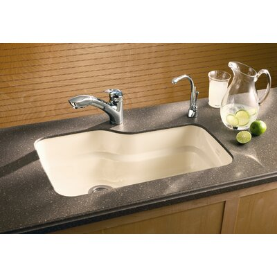 Orca 30 x 19.5 Fireclay Undermount Kitchen Sink Finish: Biscuit