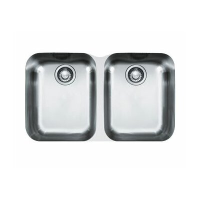 31 x 19.13 Artisan Double Bowl Undermount Kitchen Sink