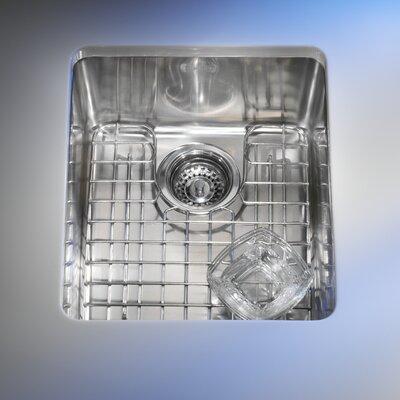 Kubus 17.31 x 14.31 Single Bowl Kitchen Sink