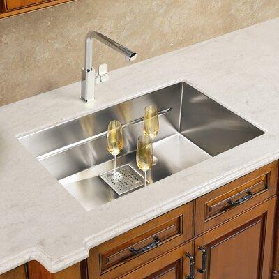 Peak 17.75 x 14.56 Single Bowl Kitchen Sink