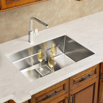 Peak 22.81 x 17.75 Single Bowl Undermount Kitchen Sink