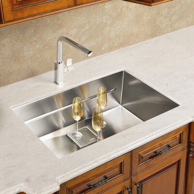 Peak 19.75 x 17.75 Single Bowl Kitchen Sink
