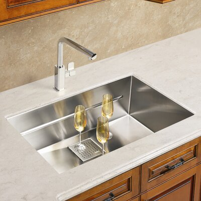 Peak 28.75 x 17.75 Single Bowl Kitchen Sink