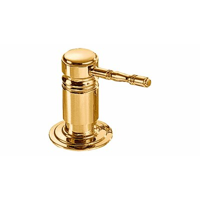 Royal Lotion Dispenser Finish: Brass