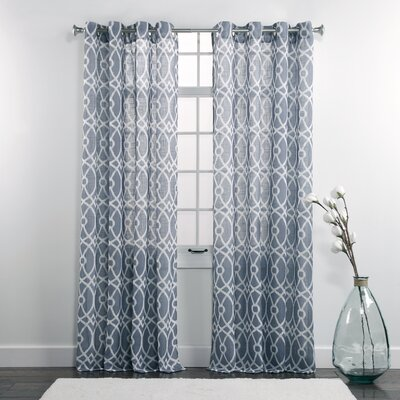 Dorian Printed Grommet Single Curtain Panel
