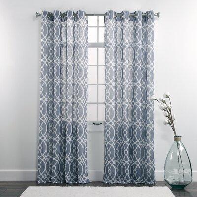 Dorian Printed Grommet Single Curtain Panel