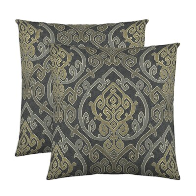 Zaya Cotton Throw Pillow Color: Charcoal
