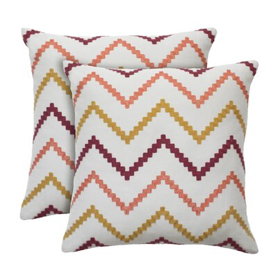 Wren Cotton Throw Pillow Color: Sorbet